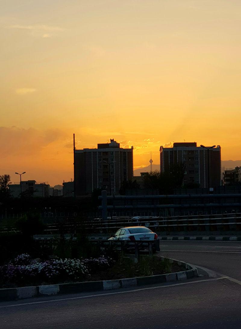 تهران از دور